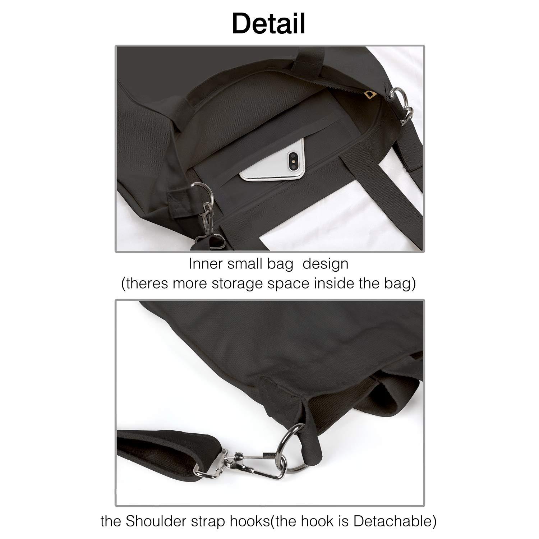Canvas Tote Handbags Casual Crossbody Shoulder Bag Metal Rock Band Member Poster Pattern Essential Hobo bag For Women Ladies