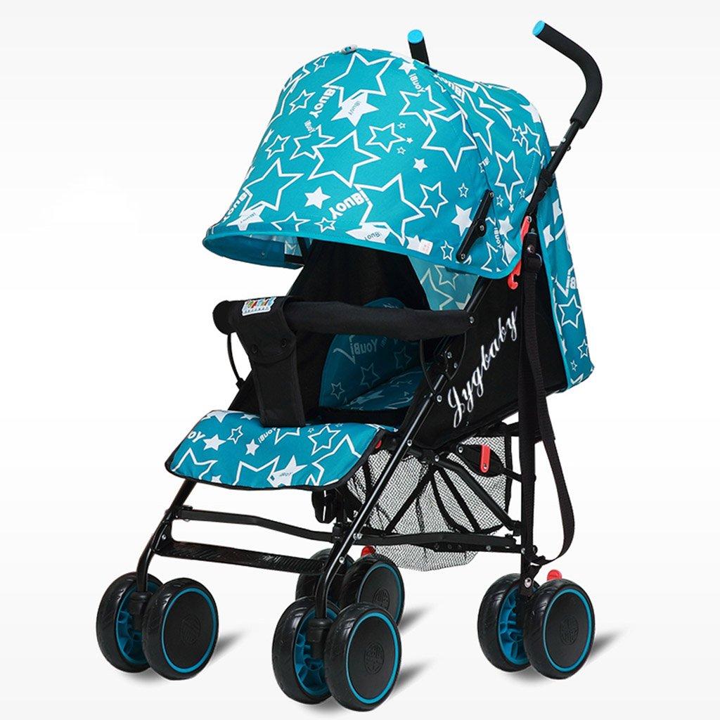 HAIZHEN マウンテンバイク ベイビーカート超軽量ポータブルシット/折りたたみ式子供用トロリー寝具セットサンシェード日除けアンチUVベイビーキャリッジ 新生児 B07DL7BPS8 2 2