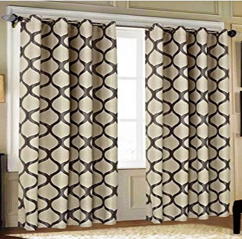 CHD Home Textiles Yvette Curtain Panel, Grey