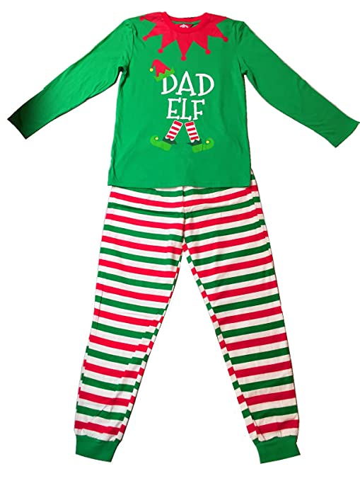 81a335d471 Amazon.com  Christmas Elves Elf Pyjamas PJ Top   Bottom Xmas Family  Nightwear (Mens Extra Large)  Toys   Games