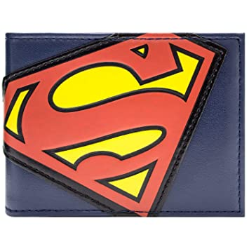 Cartera de DC Comics Superman traje Logo Azul: Amazon.es ...