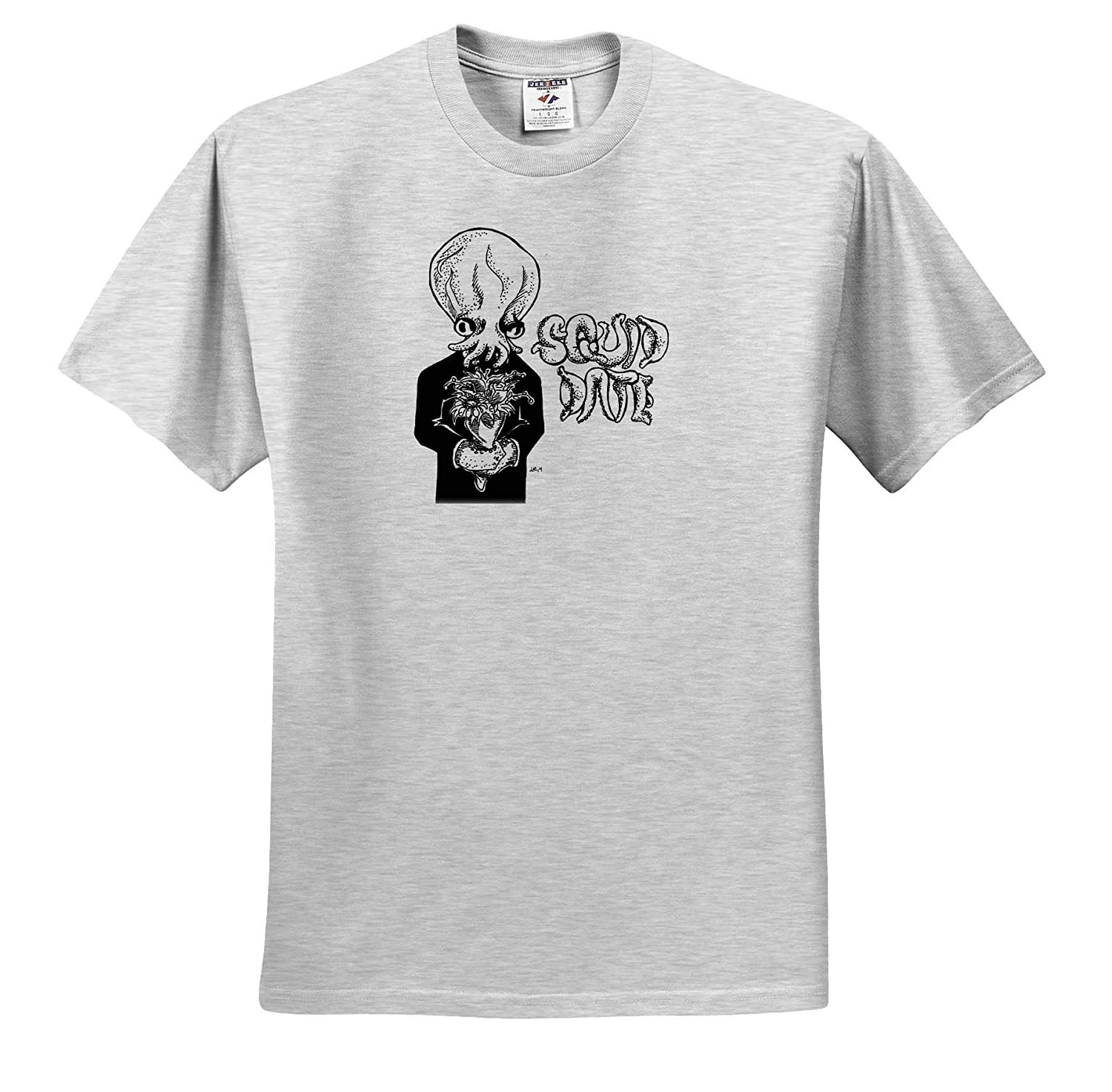 ts/_317528 Art A Squid Ready for The Big Date 3dRose Travis ECK Adult T-Shirt XL
