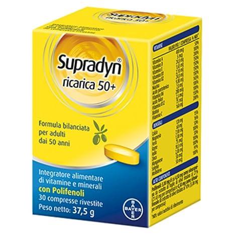 Actualizar Supradyn Vital 50+ Edad Complemento Alimenticio 30 comprimidos recubiertos