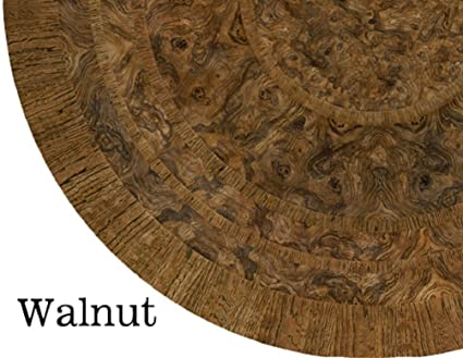 Merveilleux Table Cloth Round 36u0026quot; To 46u0026quot; Elastic Edge Fitted Vinyl Table Cover  Walnut Wood