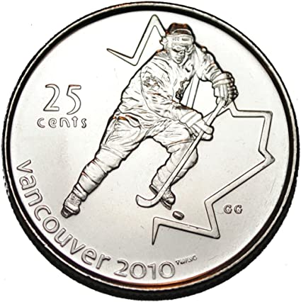 BU Canadian Olympic Quarter Canada 2007 25 cents Hockey UNC