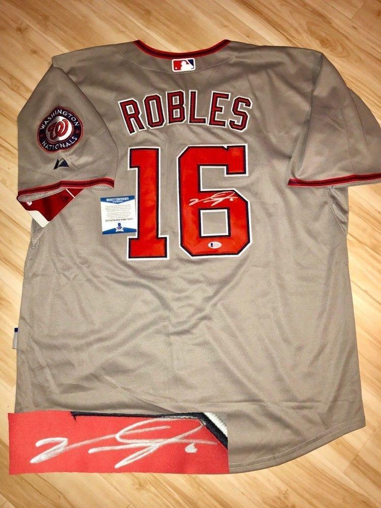 release date: 0b9e3 4092a Autographed Victor Robles Jersey - BAS Beckett Cert ...