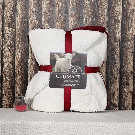 Manta Corderos Manta Color sólido Súper suave Doble Espesar Manta cálida España Rojo 100X120CM: Amazon.es: Amazon.es