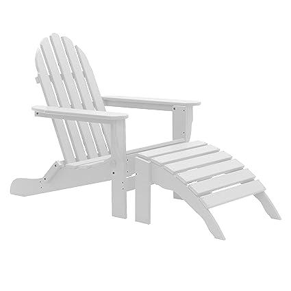 Plastic Adirondack Chairs With Ottoman.Amazon Com Wyndtree 8 Piece Recycled Plastic Folding