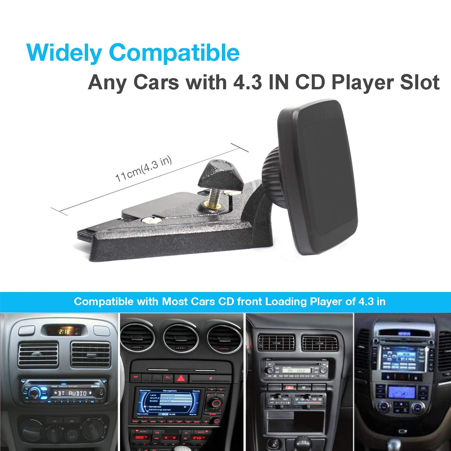 iPad Car CD Mount,Tablet Holder for Car,CD Player Tablet Mount,INNOMAX Universal Magnetic CD Player Tablet Mount for Tablets from 5\
