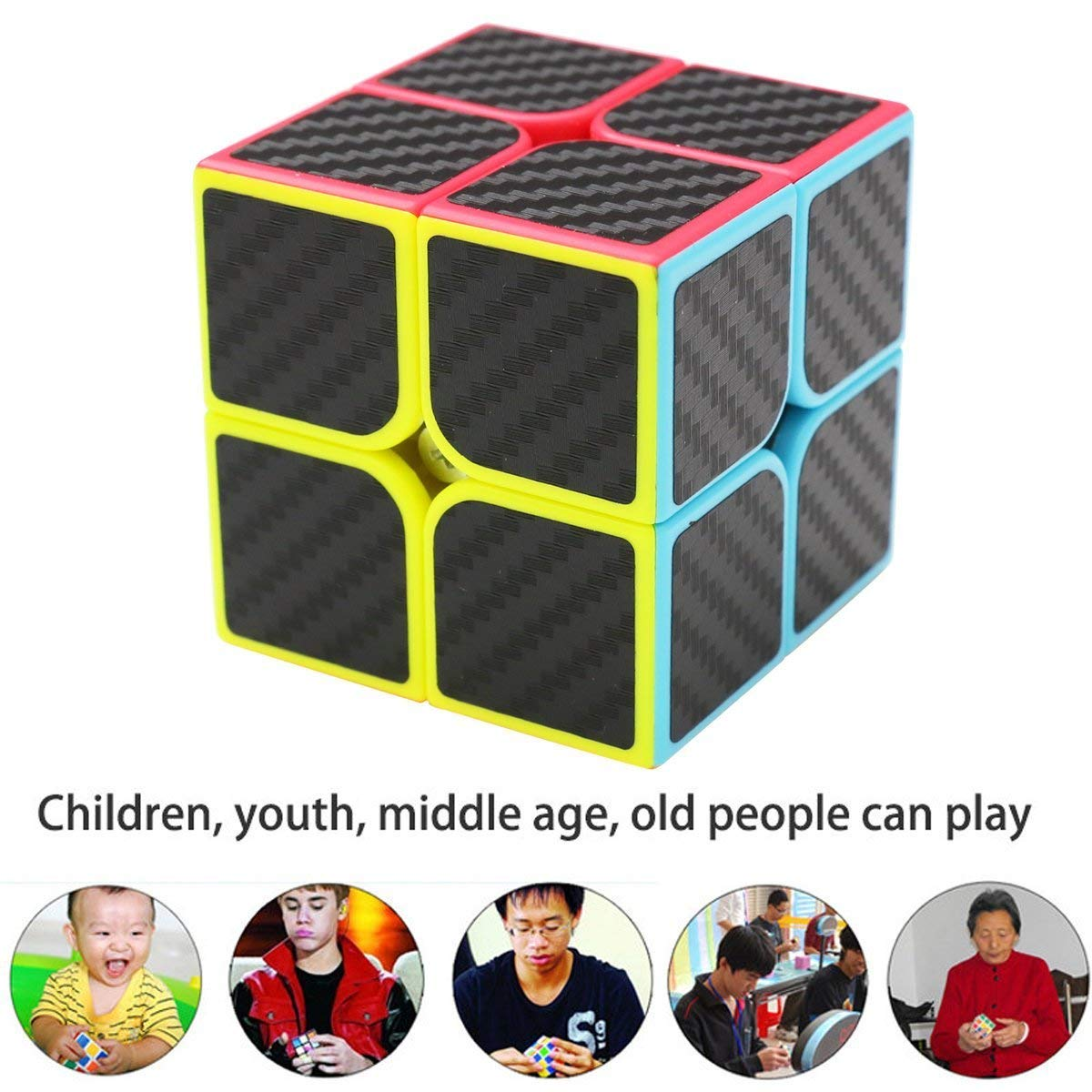 D.F.L Speed Cubes 3D Puzzles Magic Cube 3D Cube Set Rubix Cube Puzzle Cube Carbon Fiber Moyu Cube 2x2 3x3 Smooth Enhanced Version Gift for Kids and Adults by D.F.L (Image #6)