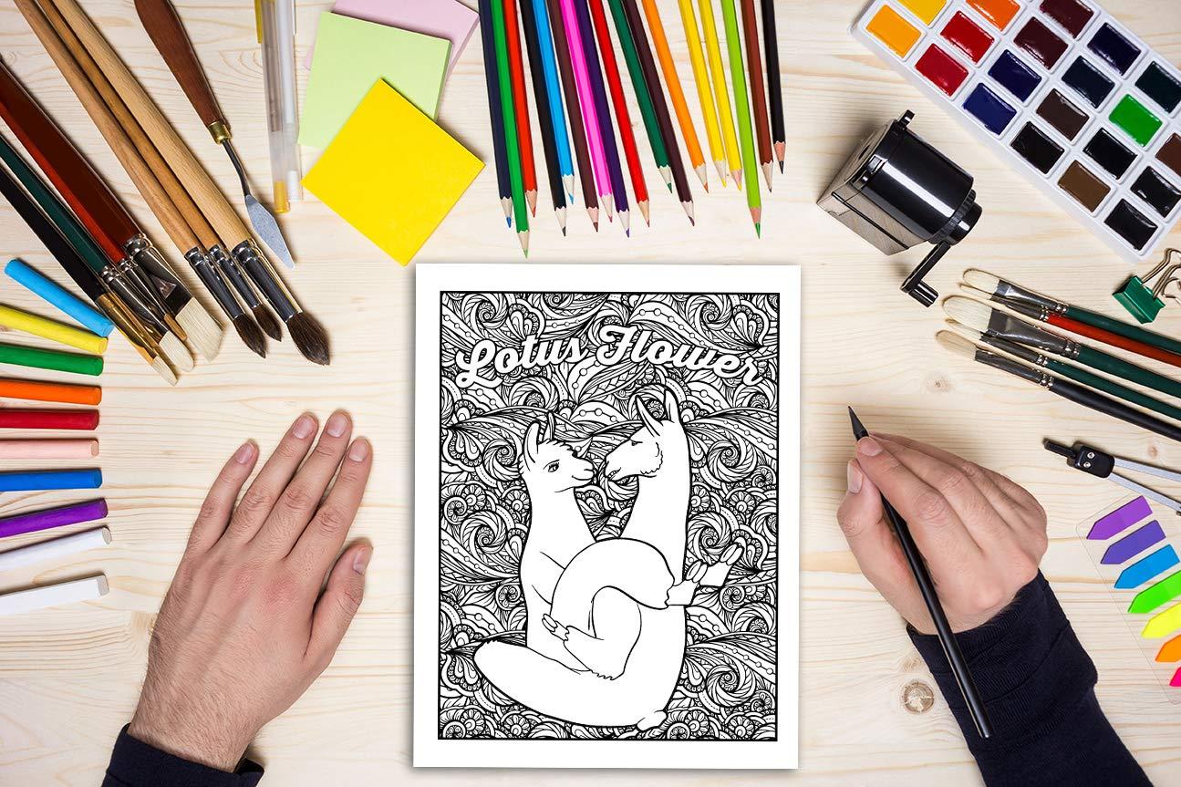 Llama Sutra Coloring Book
