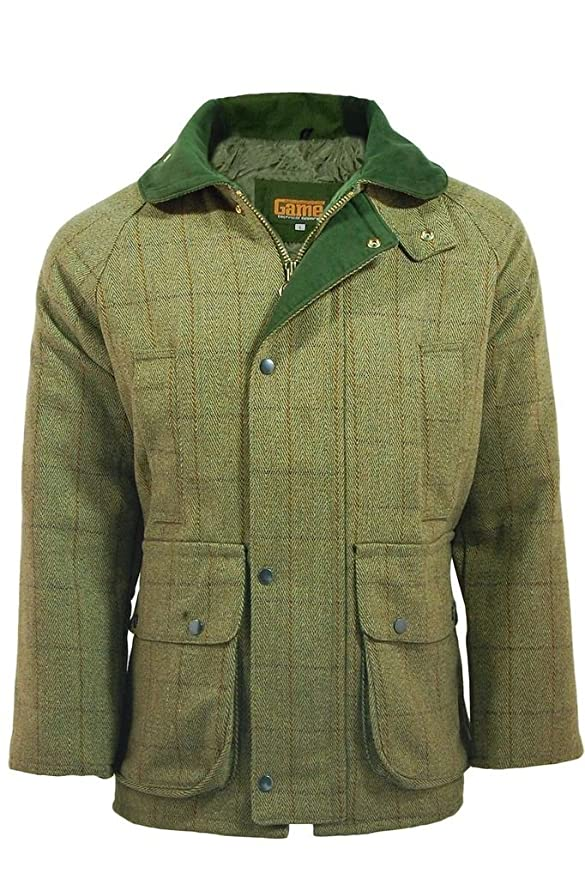 1900s Edwardian Men's Suits and Coats Mens Derby Tweed Shooting Hunting Jacket $110.95 AT vintagedancer.com