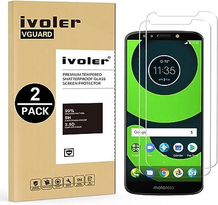 ivoler [2 Unidades] Protector de Pantalla para Motorola Moto G6 Play/Motorola Moto E5, Cristal Vidrio Templado Premium: Amazon.es: Electrónica