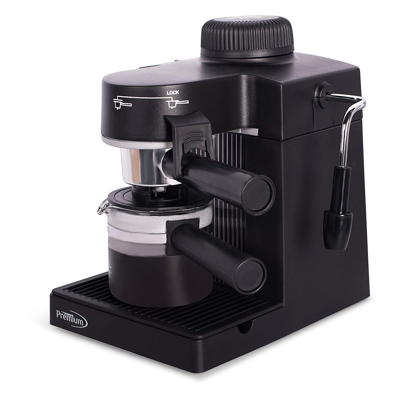 Premium Espresso & Cappuccino Maker PEM350, Black by Premium
