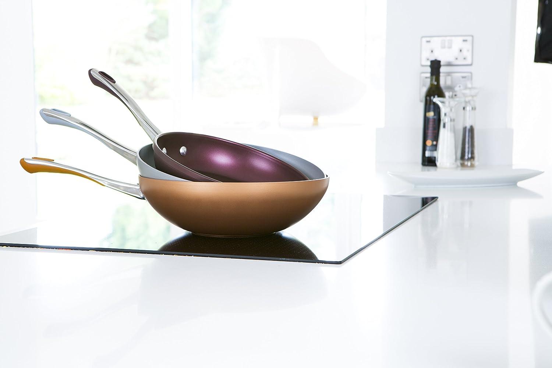 28 cm Keramik Prestige Prism Aluminium 28/cm Wok Kupfer
