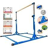 MARFULA Adjustable Gymnastics Bar Kip Bar with Fiberglass Rail & 304 Stainless Steel Arms for Kids and Gymnast Exercise Home