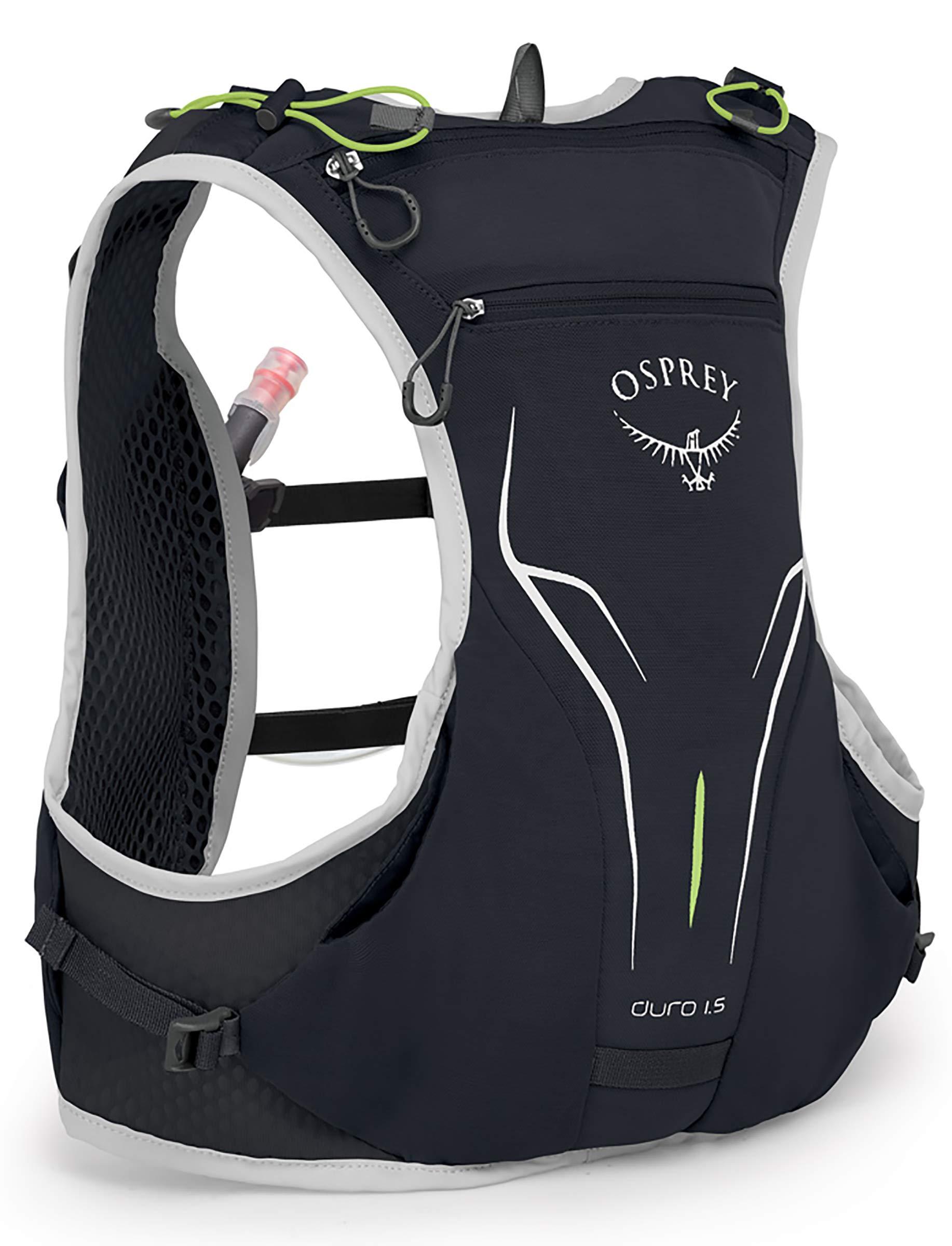 Osprey Packs Duro 1.5L Running Hydration Vest, Alpine Black, Medium/Large