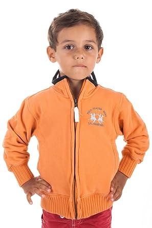 La Martina - Polo - Manga Larga - para niño Naranja 4 años: Amazon ...