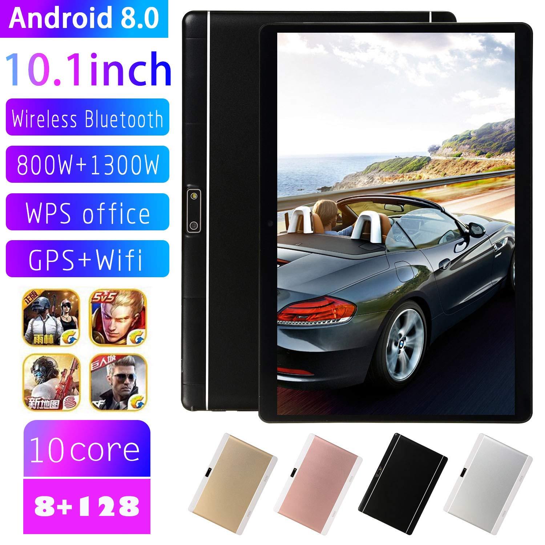 Aoile V10 10,1 Zoll 4G-LTE Android 8.0 Laptop IPS HD-Bildschirm 8 128 GB Dual-Card-Handy-Anruf PC Tablet Goldener EU-Stecker