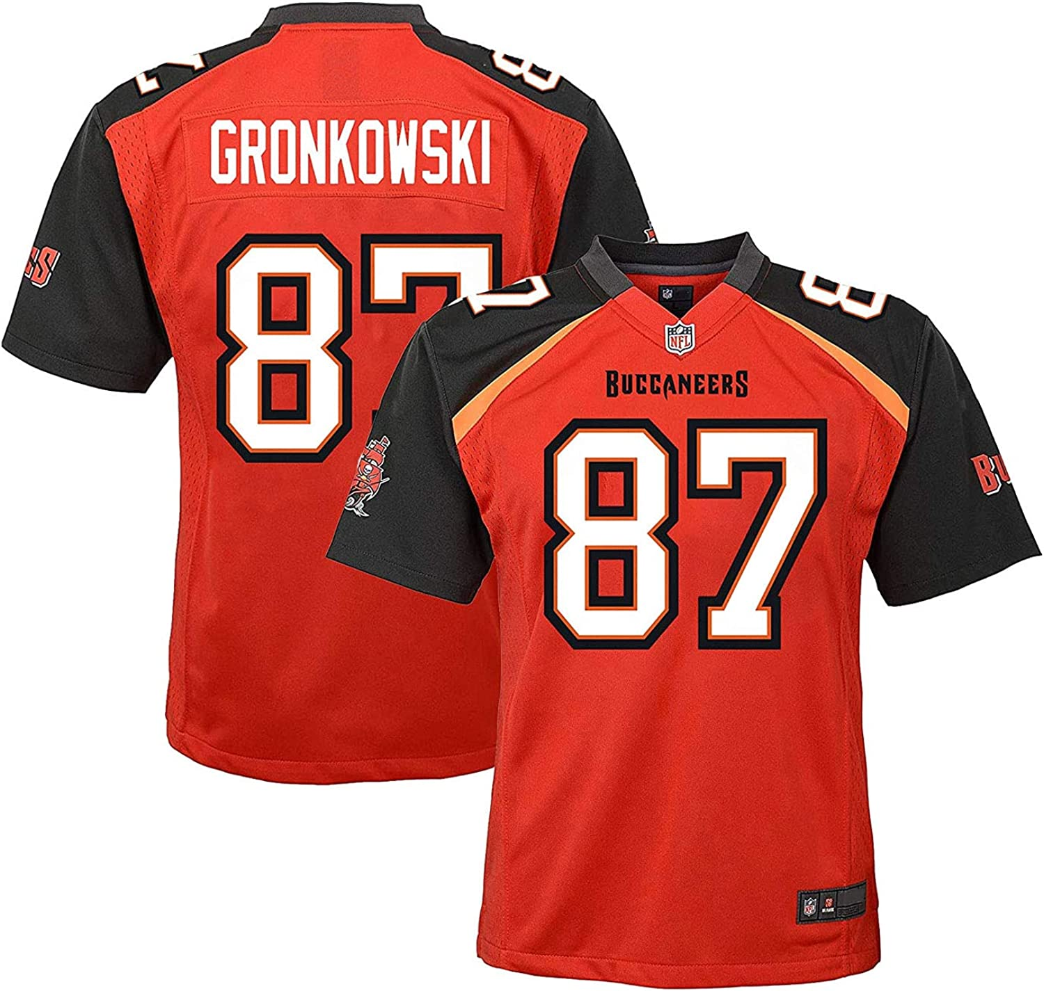 amazon com rob gronkowski tampa bay buccaneers 87 red youth home game day jersey clothing rob gronkowski tampa bay buccaneers 87 red youth home game day jersey