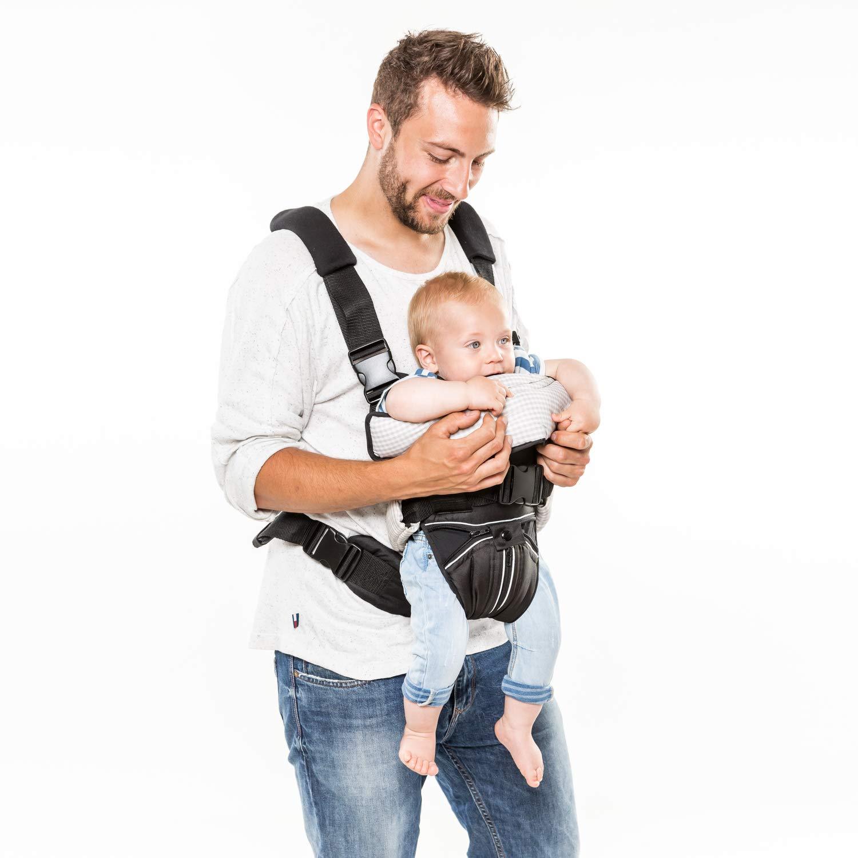 ab Geburt bis zu 9 kg zwei verschiedene Tragem/öglichkeiten Innenraum gepolstert hoher Tragekomfort Hauck 2 Way Carrier ergonomische Babytrage Grau