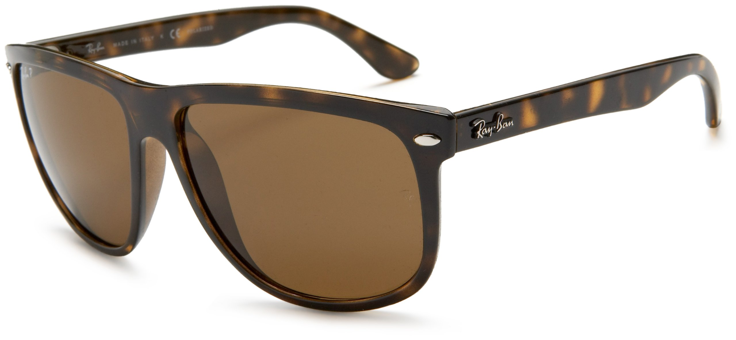 Ray-Ban RB4147 Boyfriend Square Sunglasses, Light Tortoise/Polarized Brown, 60 mm by Ray-Ban