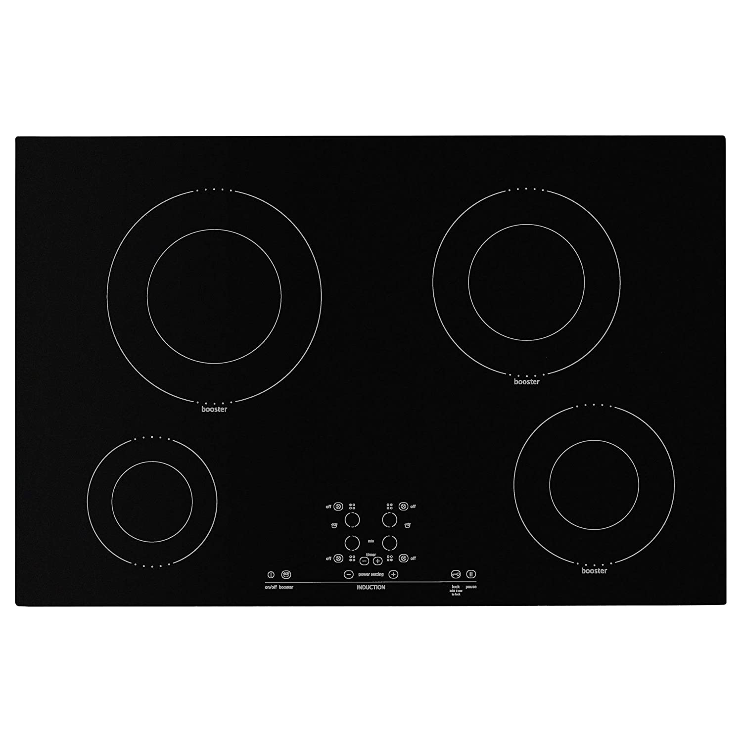 IKEA. Nutid 4 Element Induction Cooktop, Black