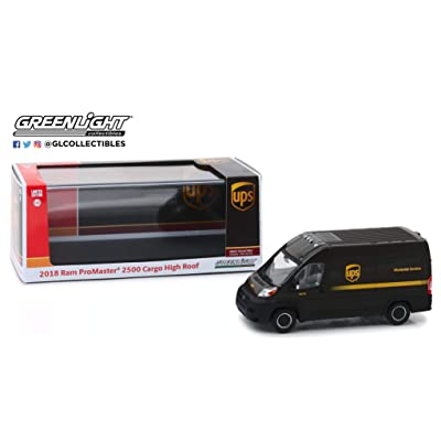 Greenlight 86156 1: 43 2020 Ram Promaster 2500 Cargo High Roof - United Parcel Service (Ups) Worldwide Services - New Tooling, Multi: Toys & Games