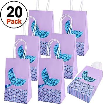 Amazon.com: SIQUK - Bolsas de regalo de sirena con 20 ...
