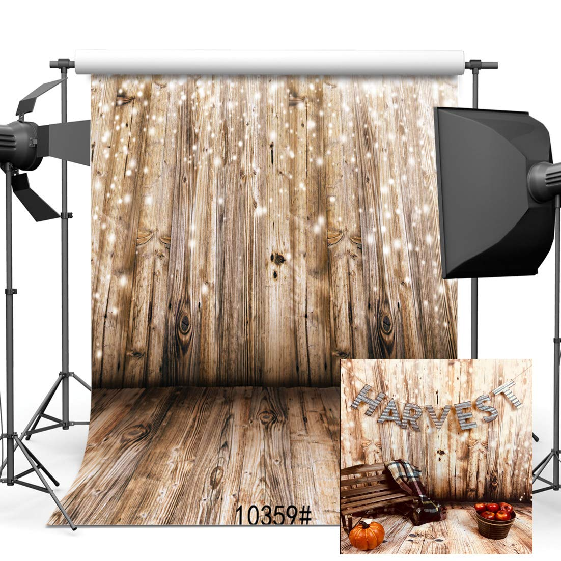 SJOLOON 10x10ft Rustic Backdrop Vinyl Photographer Background Wedding Wood Photography Backdrops for Photographers Studio Props 10359 by SJOLOON (Image #2)