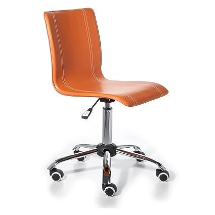 Silla de escritorio infantil y juvenil color naranja