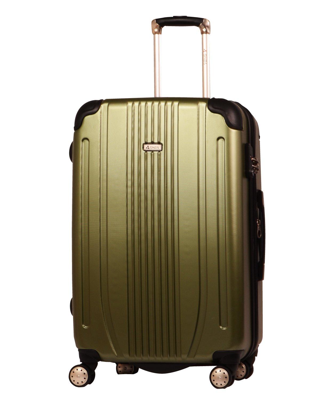 スーツケース キャリーバッグ 軽量 TSAロック Wキャスター搭載 エンボス加工 A-561 ファスナー開閉式 7色3サイズ B01ARJPCIS M(中)型|グリーン(カーキ系) グリーン(カーキ系) M(中)型