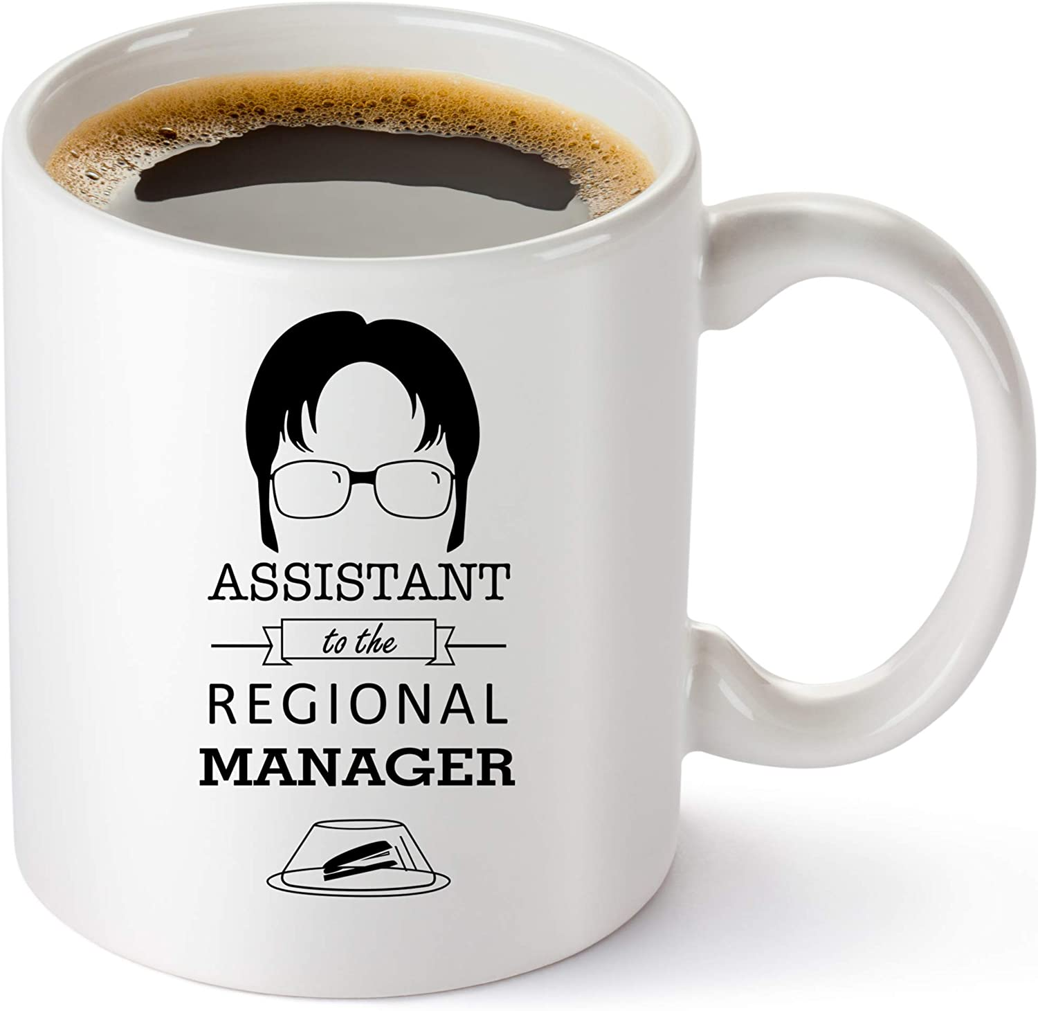 Assistant To The Regional Manager Coffee Mug - The Office Gifts - Funny Dwight Schrute The Office Merchandise - 11oz collectible Dunder Mifflin The Office Mug For Men And Women