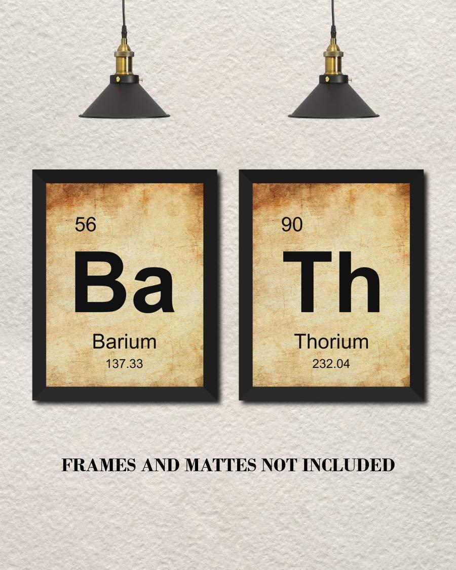 . Amazon com  BATH Periodic Table of Elements Home Decor Prints   Set