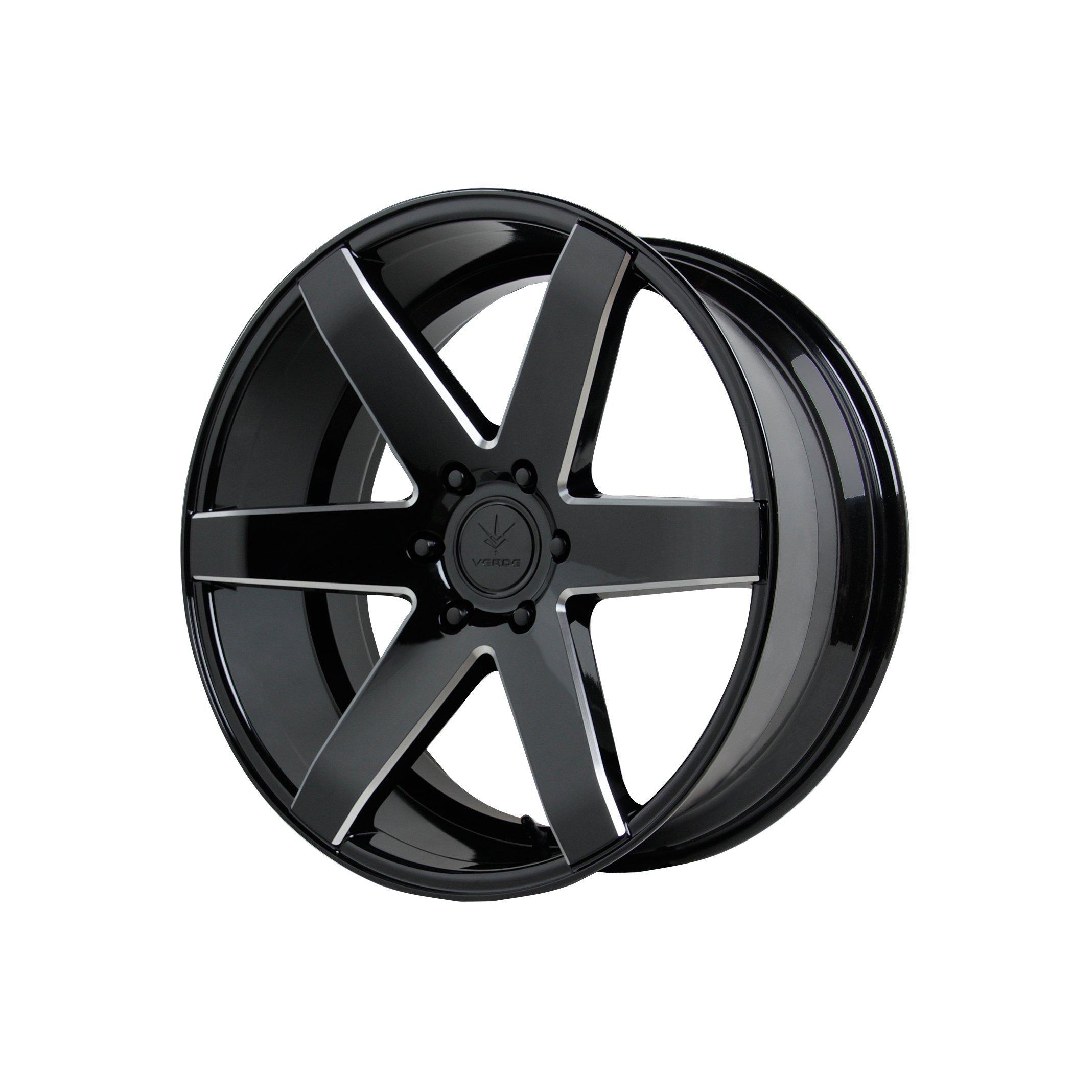Verde Custom Wheels V24 Invictus Gloss Black Wheel (22x9.5''/6x5.5'')