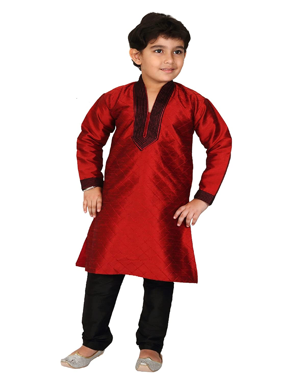 3f431ba58 Kurta Pyjama Indian Pakistani Style Boys Kids Sherwani Suit Kurta Shalwar  Kameez Indian Party wear (16-15-16Years, Mehroon Black): Amazon.co.uk:  Clothing