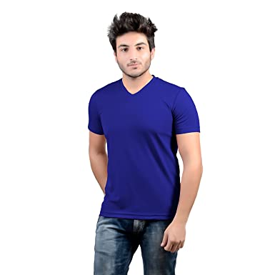 c414a00ac DS WORLD Stylish Regular Fit Solid Men's V-Neck Half Sleeves T-Shirt ...