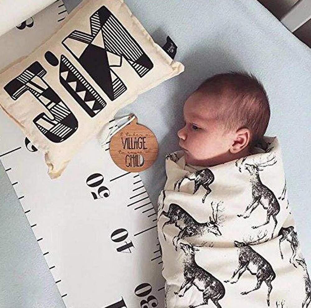 Fuchs Raumwand-Dekoration f/ür Kinder Kinderzimmer Leinwand abnehmbar aufgerollt 2 m BeiQianE Baby-Wachstumsdiagramm Lineal