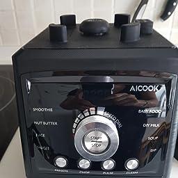 Aicook Batidora de Vaso con Función de Calentamiento, Batidora ...