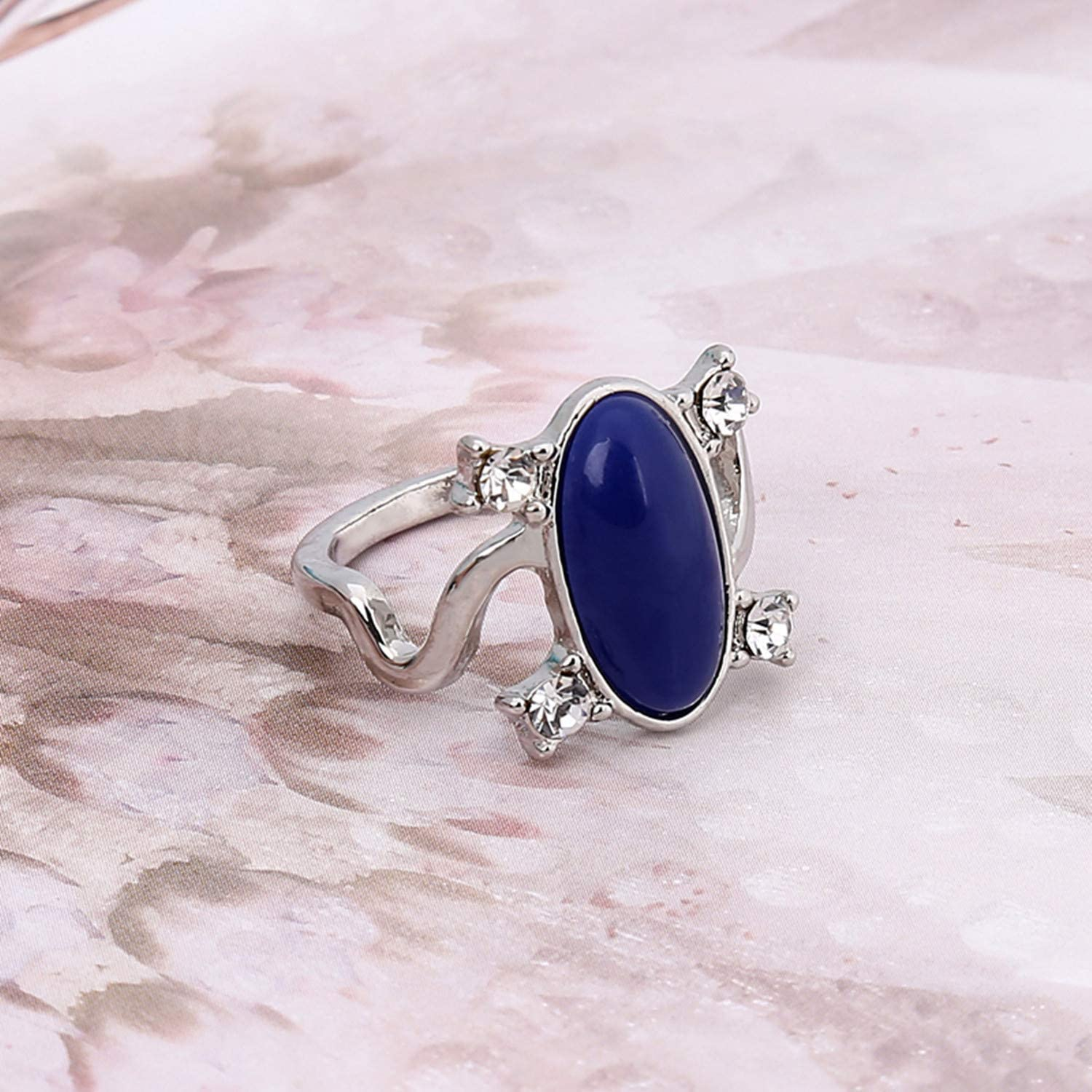 PPX Daywalking Katherine Necklace Pendant Charm Necklace-Royal Blue and Vampire Diaries Daylight Walking Signet Damons Ring for Fans with Transparent Box