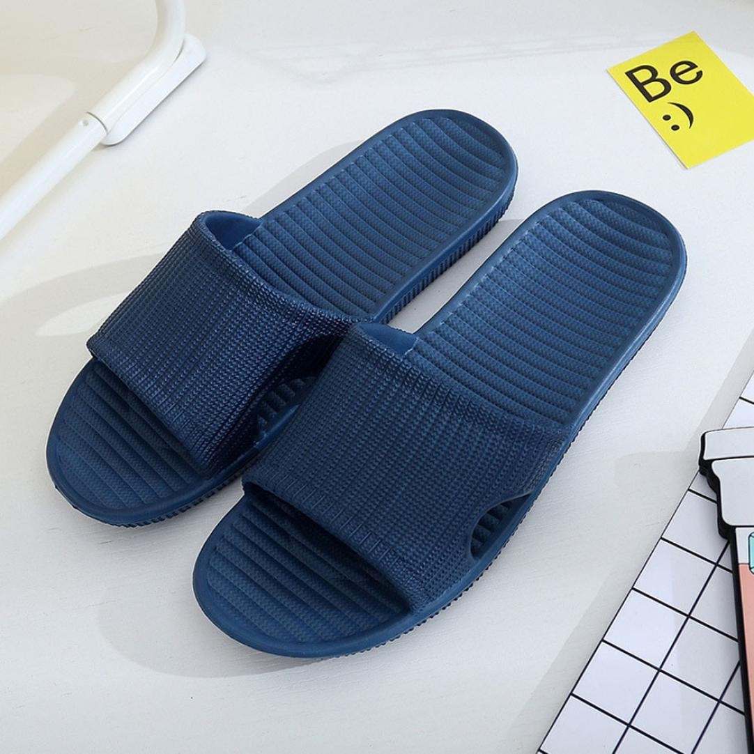 SNOWSONG Men Stripe Flat Bath Slippers Summer Sandals Indoor /& Outdoor Slippers