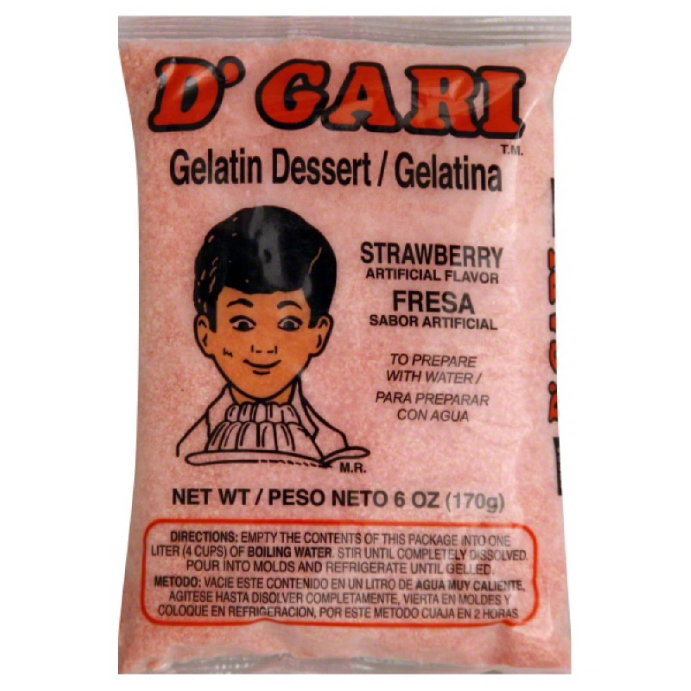 Amazon.com : DGari Gelatin Mix, Strawberry, 6-Ounce (Pack of 24) : Packaged Snack Gelatins : Grocery & Gourmet Food