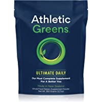 Athletic Greens Ultimate Daily, Whole Food Sourced All in One Greens Supplement Powder, NSF Certified, GlutenFree, Vegan…