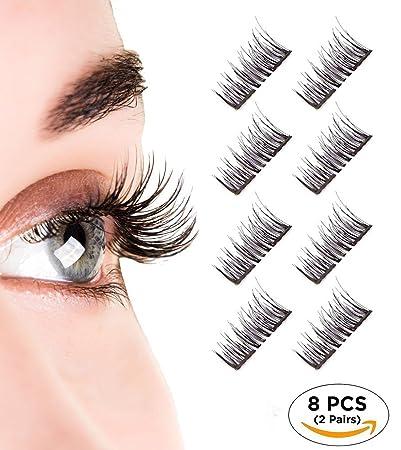 3cf814d5c4b Magnetic Eyelashes, Dual Magnetic Eyelashes 0.2MM Ultra Thin 3D Eyelashes  for Ultra Soft Natural