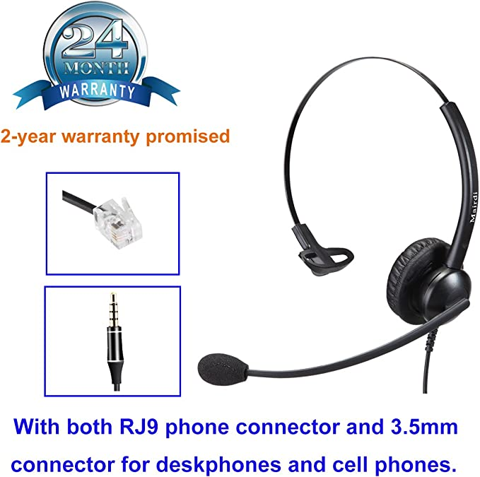 2.5mm VoIP Headset to Universal RJ9