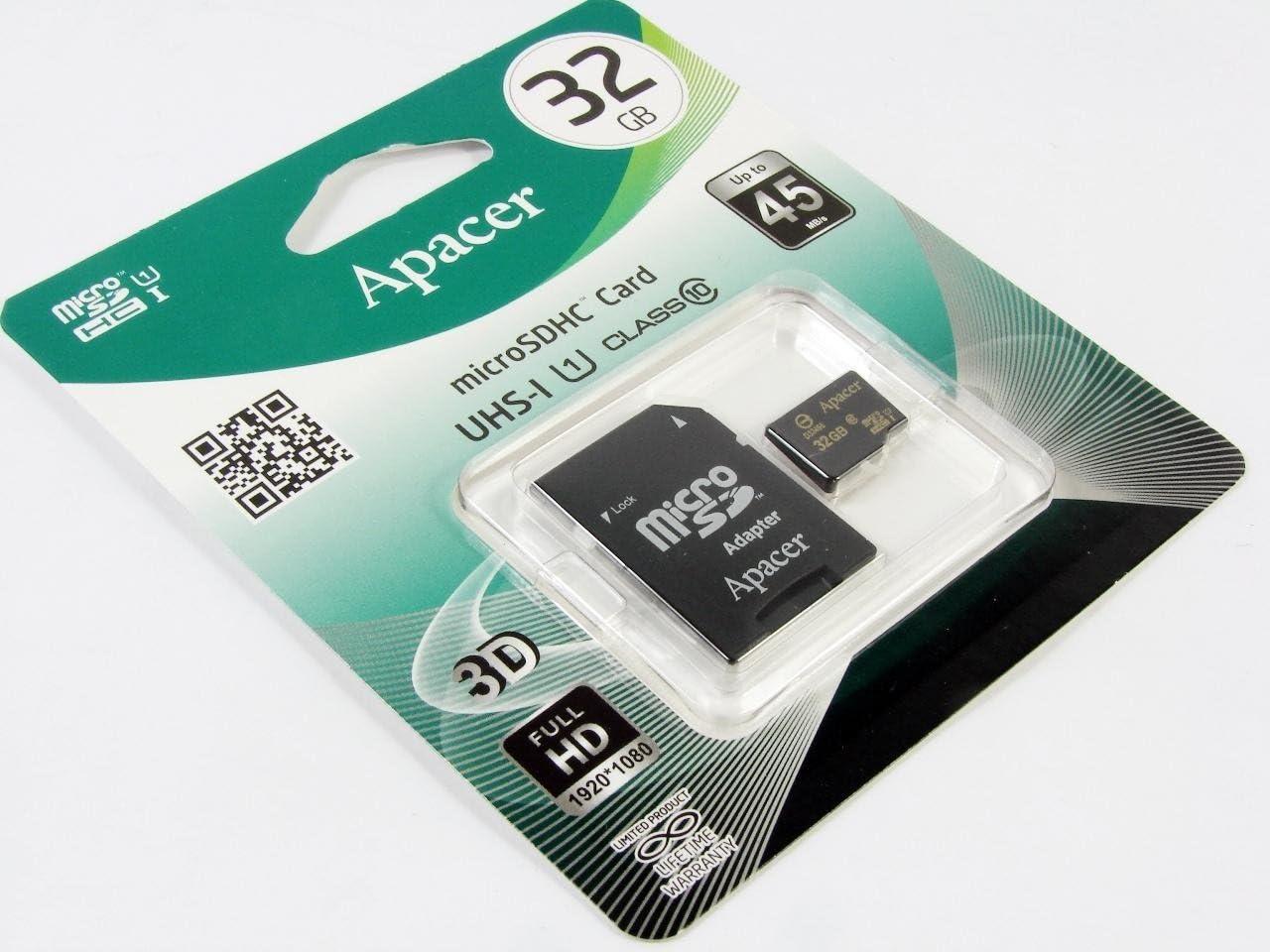 Apacer Micro Sdhc Class 10 Uhs 1 32gb Speicherkarte Mit Computer Zubehör