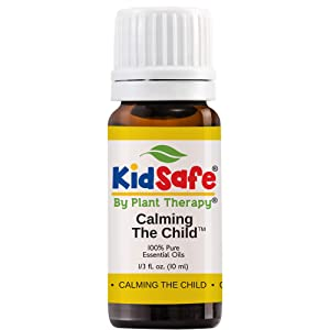 Plant Therapy KidSafe Calming The Child Essential Oil Blend - Relaxing and Soothing Blend 100% Pure, KidSafe, Undiluted, Natural Aromatherapy, Therapeutic Grade 10 mL (1/3 oz)