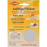 Kleiber - Parche de reparación termoadhesivo, de algodón, 40 x 12 cm, para telas de tejido fino, color gris claro
