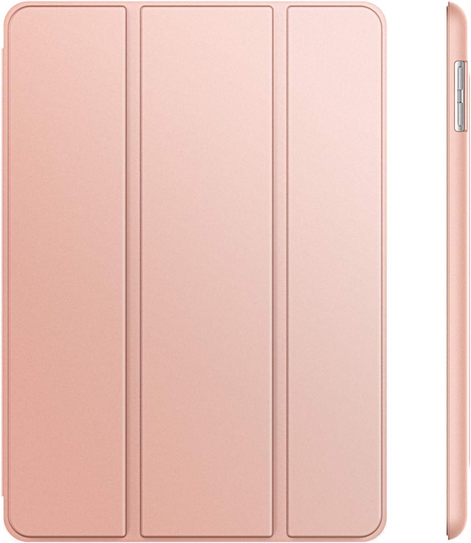 JETech Funda para iPad (9,7 Pulgadas, 2018/2017 Modelo, 6ª / 5ª generación), Carcasa con Auto-Sueño/Estela, Oro Rosa