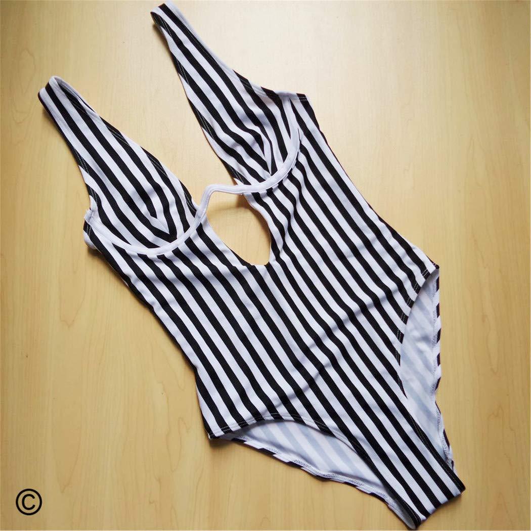 Striped Swimsuit Women Monokini Swimwear